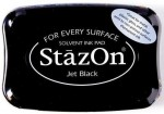 Tusz do stempli StazOn Jet black