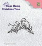 Stempel akrylowy Nellie's Choice Clear Stamp CT015 CHRISTMAS TIME