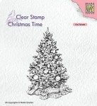 Stempel akrylowy Nellie's Choice Clear Stamp CT035 CHRISTMAS TIME Christmas tree