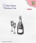 Stempel akrylowy Nellie's Choice Clear Stamp CT039 CHRISTMAS TIME Happy New Year