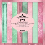 Papier do scrapbookingu 15x15cm Dixi Craft PINK & MINT zestaw 24 arkusz