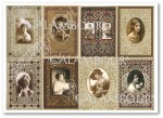 Papier ryżowy Calambour Digital Collection DGR 108 Old Frames with Ladies - sepia