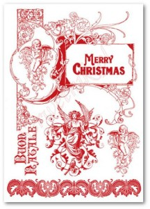 Papier do transferów Stamperia DFTR 018 Merry Christmas