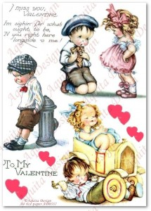 Papier ryżowy do decoupage Aquita AD0337 I miss you, Valentine