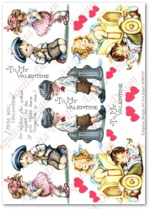 Papier ryżowy do decoupage Aquita AD0338 I miss you, Valentine midi