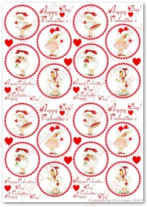 Papier ryżowy do decoupage Aquita AD0342 Happy Valentine's Day  mini