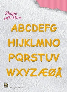 Wykrojnik Nellie's Choice SHAPE DIES SD037 Alfabet