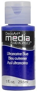 Fluid akrylowy DecoArt Fluid Acrylics ULTRAMARINE BLUE 29,6ml