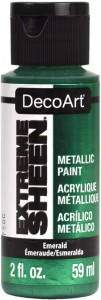 Farba metaliczna DecoArt Extreme Sheen EMERALD 59 ml