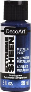 Farba metaliczna DecoArt Extreme Sheen  DEEP SAPPHIRE 59 ml