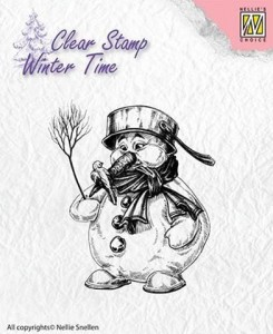 Stempel akrylowy Nellie's Choice Clear Stamp WINTER TIME WT001