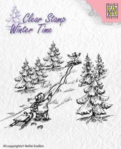 Stempel akrylowy Nellie's Choice Clear Stamp  WT003 WINTER TIME WT003