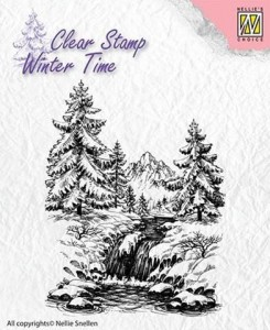 Stempel akrylowy Nellie's Choice Clear Stamp  WT004 WINTER TIME