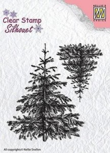 Stempel akrylowy Nellie's Choice Clear stamp SIL038 SILHOUET