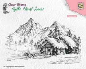 Stempel akrylowy Nellie's Choice Clear Stamp IDYLLIC FLORAL SCENES IFS015