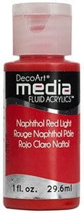 Fluid akrylowy DecoArt Fluid Acrylics NAPHTOL RED LIGHT 29,6ml