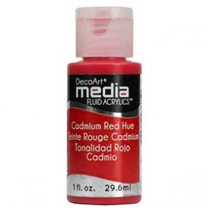 Fluid akrylowy DecoArt Fluid Acrylics CADMIUM RED HUE 29,6ml