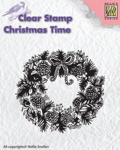 Stempel akrylowy Nellie's Choice Clear Stamp CHRISTMAS TIME CT013
