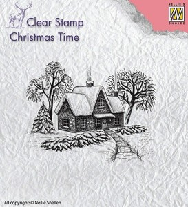 Stempel akrylowy Nellie's Choice Clear Stamp CT019 CHRISTMAS TIME