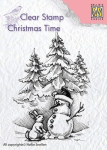 Stempel akrylowy Nellie's Choice Clear Stamp CT026 CHRISTMAS TIME