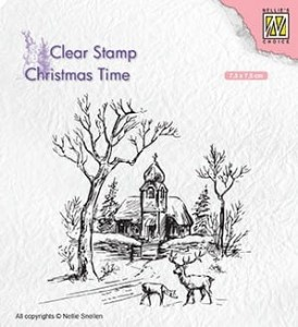 Stempel akrylowy Nellie's Choice Clear Stamp CT027 CHRISTMAS TIME