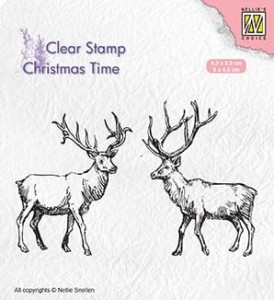 Stempel akrylowy Nellie's Choice Clear Stamp CT028 CHRISTMAS TIME CT028