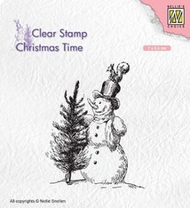 Stempel akrylowy Nellie's Choice Clear Stamp CT029 CHRISTMAS TIME CT029