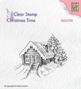 Stempel akrylowy Nellie's Choice Clear Stamp CT030 CHRISTMAS TIME