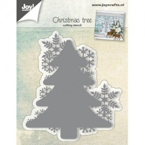 Wykrojnik  do wycinania Joy! Crafts Cutting stencil 6002/06816002/0682 CHRISTMAS TREE