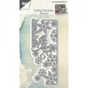 Wykrojnik  do wycinania Joy! Crafts Cutting stencil 6002/0683 MERRY CHRISTMAS