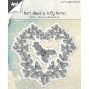Wykrojnik do wycinania Joy! Crafts Cutting stencil 6002/0685 HEART SHAPE OF HOLLY BERRIES