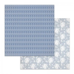 Papier do scrapbookingu 30,5x30,5cm Stamperia WINTER STAR TŁO KWIATOWE