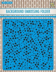 Folder do embossingu Nellie's  Choice EEB026 BACKGROUND EMBOSSING FOLDER GWIAZDECZKI