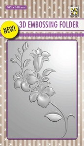 Folder do embossingu 3D Nellie's Choice EF3D05 3D EMBOSSING FOLDER
