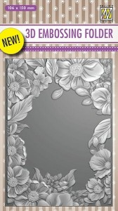 Folder do wytłaczania 3D Nellie's Choice EF3D09 3D EMBOSSING FOLDER