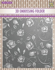Folder do wytłaczania 3D Nellie's Choice EF3D11 3D EMBOSSING FOLDER Różyczkowe tło