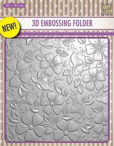 Folder do wytłaczania 3D Nellie's Choice EF3D03 3D EMBOSSING FOLDER Kwiatuszkowe tło