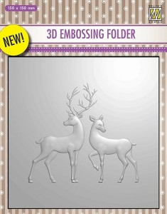 Folder do wytłaczania 3D Nellie's Choice EF3D08 3D EMBOSSING FOLDER Jeleń i łania