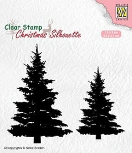 Stempel akrylowy Nellie's Choice Clear Stamp CSIL009 CHOINKI DWIE