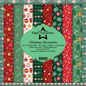 Papier do scrapbookingu 15x15cm Dixi Craft CHRISTMAS DECORATION zestaw 24 arkuszy