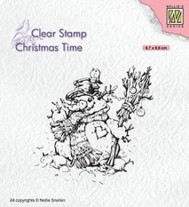Stempel akrylowy Nellie's Choice Clear Stamp CT034 CHRISTMAS TIME Snowman