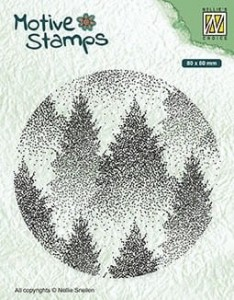 Stempel akrylowy Nellie's Choice Clear stamp TXCS017 MOTIVE STAMPS Misty Forest