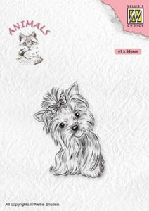 Stempel akrylowy Nellie's Choice Clear Stamp ANI020 ANIMALS Yorkshire terrier