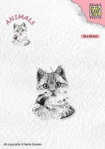Stempel akrylowy Nellie's Choice Clear Stamp ANI021 ANIMALS Pussycat