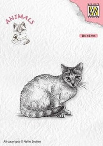 Stempel akrylowy Nellie's Choice Clear Stamp ANI023 ANIMALS Cat