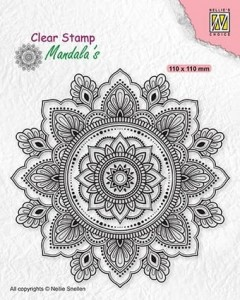Stempel akrylowy Nellie's Choice Clear Stamp CSMAN002 MANDALA'S Sunflower