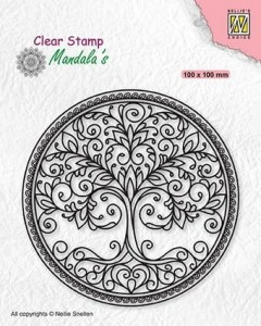 Stempel akrylowy Nellie's Choice Clear Stamp CSMAN003 MANDALA'S Tree of life