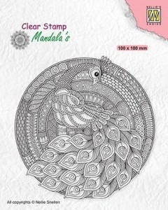 Stempel akrylowy Nellie's Choice Clear Stamp CSMAN004 MANDALA'S Peacock
