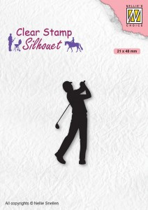 Stempel akrylowy Nellie's Choice Clear Stamp SIL069 SILHOUET Golfer