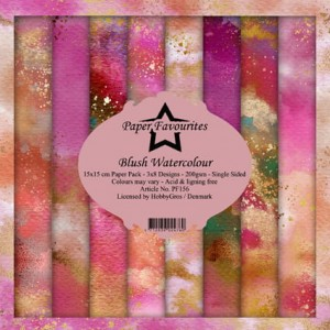 Papier do scrapbookingu 15x15cm Dixi Craft BLUSH WATERCOLOUR zestaw 24 arkuszy